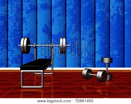 Home Gym With Bench Press And Dumbbells