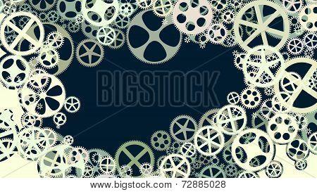 Vector Illustration Of Gear Wheels.