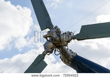 Tail Rotor Of The Helicopter