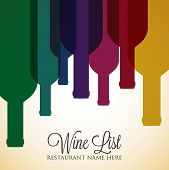 Bright Wine List Menu Cover In Vector Format. poster
