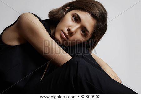 Pretty Asian Girl Looking At Camera