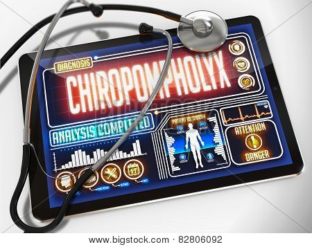 Chiropompholyx on the Display of Medical Tablet.