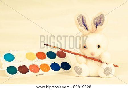 Rabbith With Brush