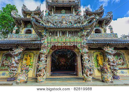 Linh Phuoc Pagoda At Da Lat City, Vietnam.