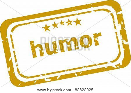 business humor stamp isolated on white background poster