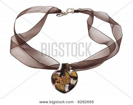 Necklace With Coulomb Isolated On The White