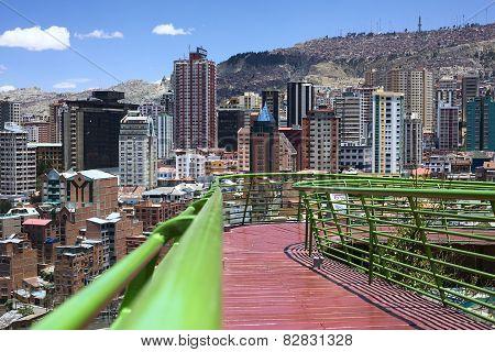 Via Balcon Pedestrian Path in La Paz, Bolivia