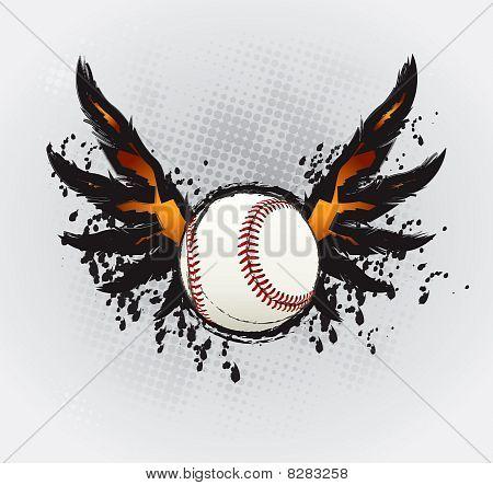 Baseball Ball Design Element