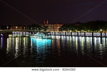 Lyon (France) by night