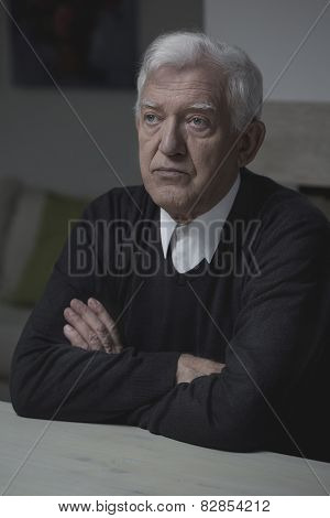 Elderly Man Alone