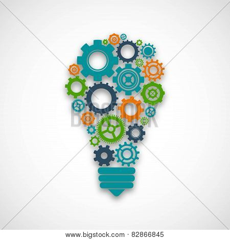 Gear Lightbulb Illustration