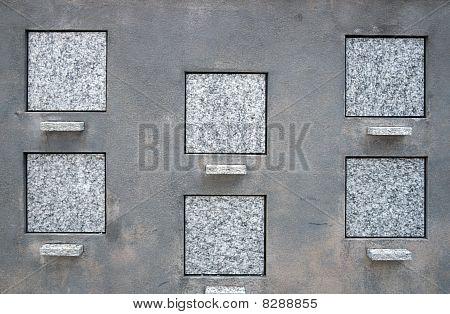 Blank Square Tombstones