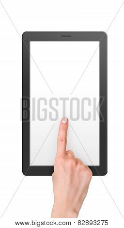 Computer Tablet With Blank Screen With Reflection