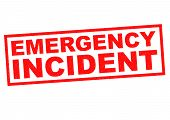 EMERGENCY INCIDENT red Rubber Stamp over a white background. poster
