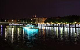 Lyon (France) by night