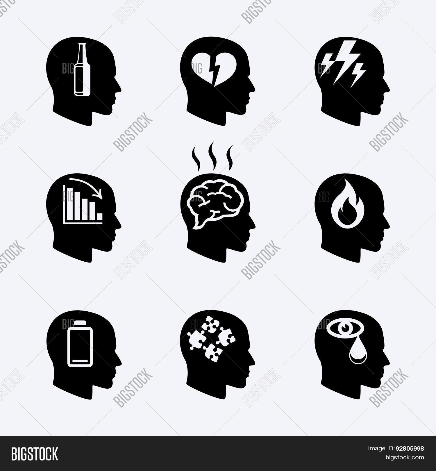 Depression Stress Vector Photo Free Trial Bigstock