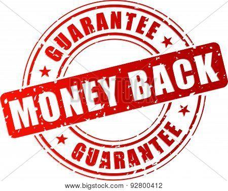 Red Money Back Stamp