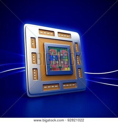 Computer Cpu (central Processor Unit) Chip