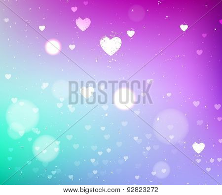 Purple And Turquoise Abstract Background