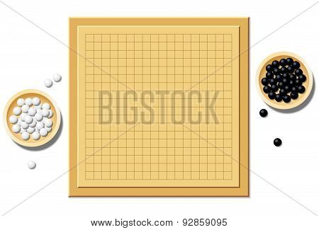 Go Game Blank Start Of Play Board