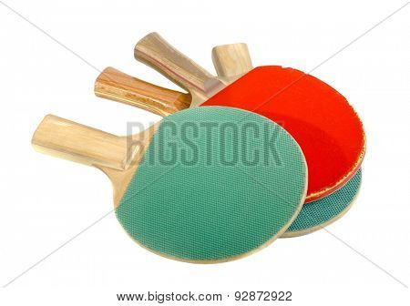 Pingpong rackets in a pile
