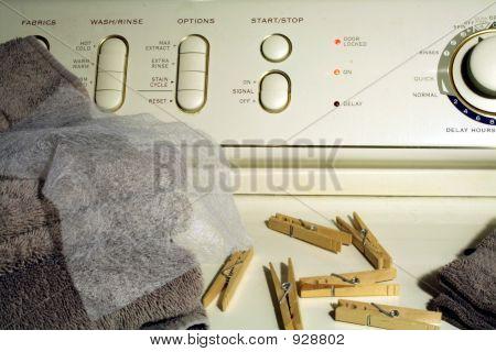 Laundry On Washing Machine