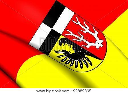 Flag Of Wunsiedel Im Fichtelgebirge, Germany.