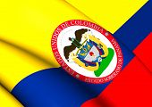 Sovereign State of Panama 1863-1886 (Colombia) Flag. Close Up. poster