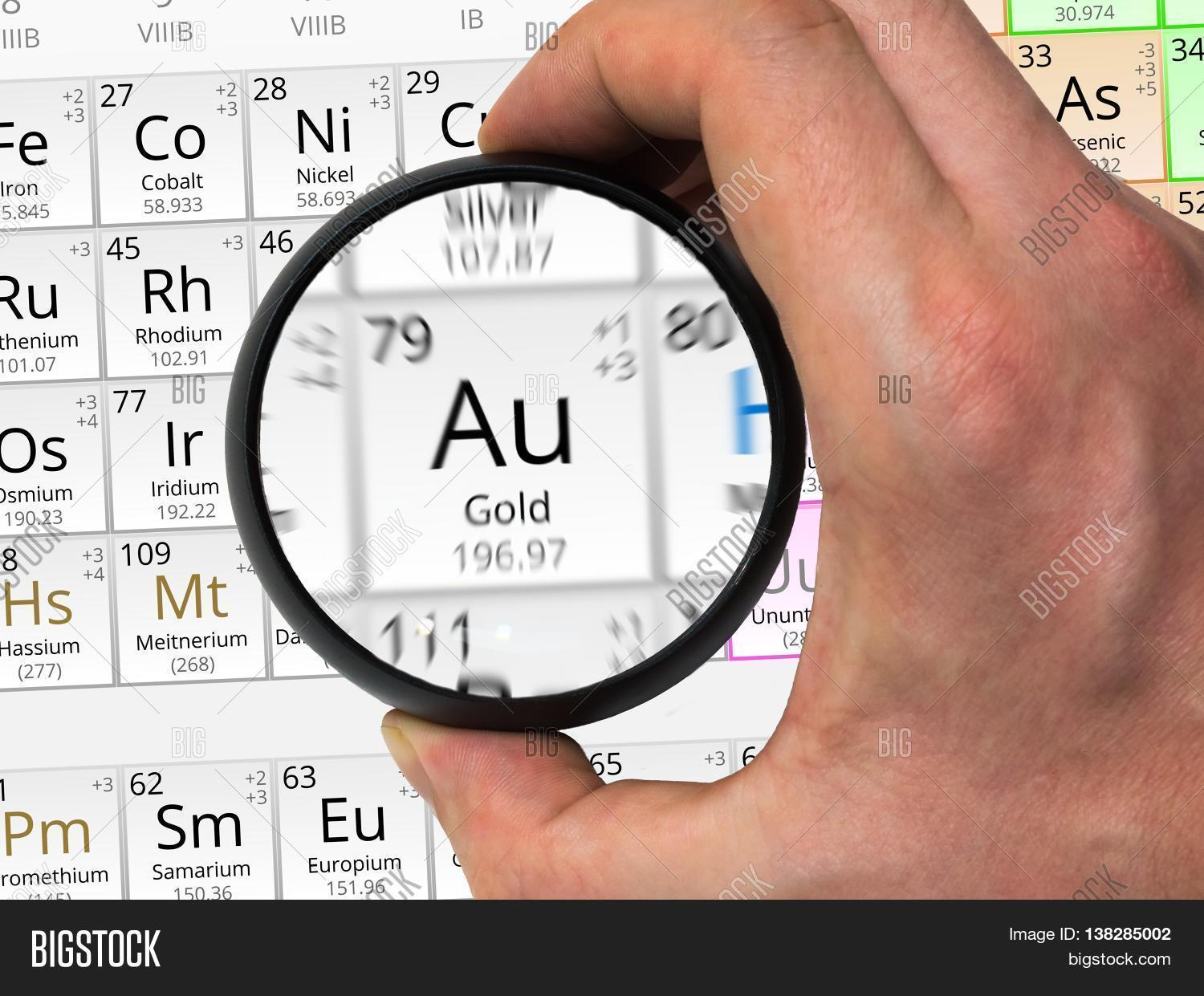 Gold symbol au element periodic image photo bigstock gold symbol au element of the periodic table zoomed with magn urtaz Gallery