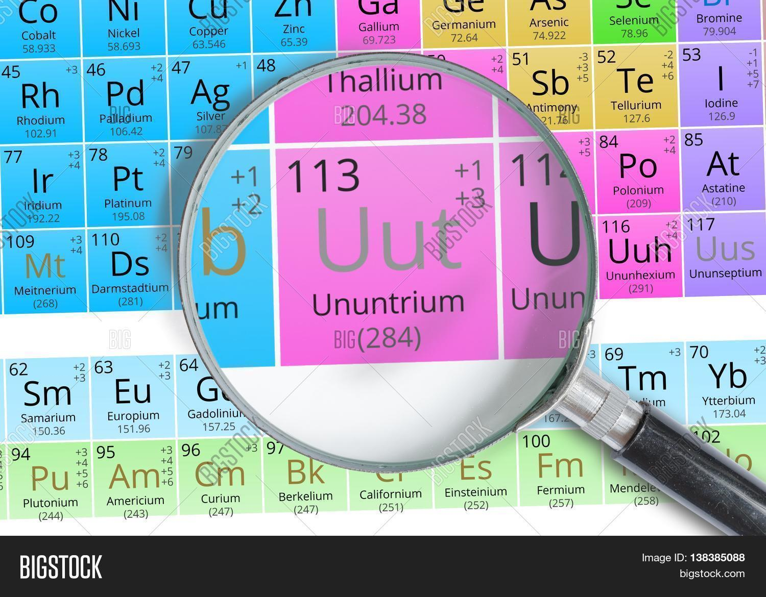 Ununtrium symbol uut element image photo bigstock ununtrium symbol uut element of the periodic table zoomed wit urtaz Images
