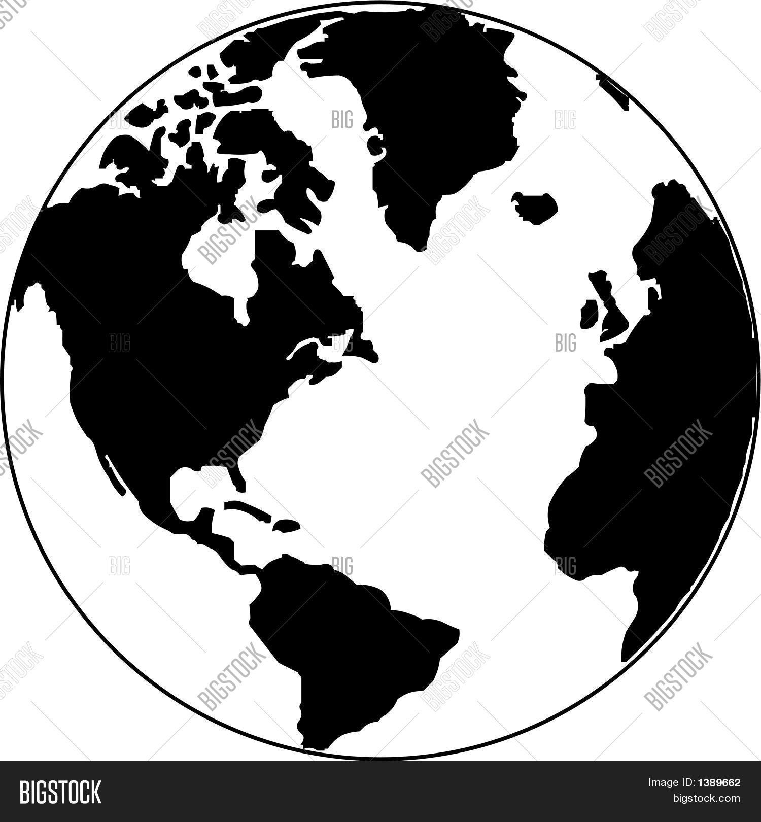 Vector map world on globe vector photo bigstock vector map of the world on the globe gumiabroncs Image collections