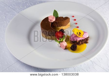 Chocolate Souffle And Ice Cream
