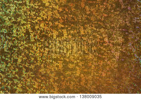 Gold Scale Background Scaly Fabric Pattern Abstract Flaky Texture