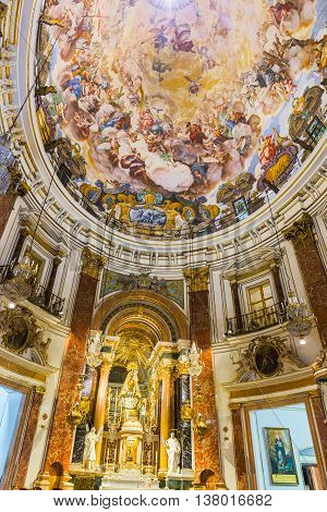 Valencia -june 24: Paintings In Basilica Of Our Lady Of The Abandoned On June 24 2016 In Valencia, S