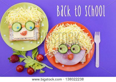 Happy Face Kids Sabdwiches