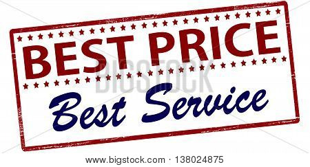 Rubber stamp with text best price best service inside vector illustration