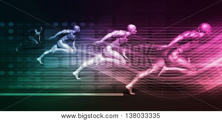 Integrated Solutions and High Performance Speed System 3d Illustration Render