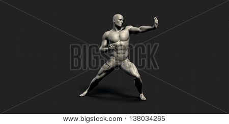 Fitness Tracking or Tracker as a Sports Concept 3D Illustration poster