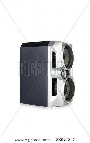 Sound audio speaker isolated on white background