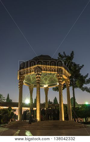 Tomb Of Hafez The Great Iranian Poet In Shiraz At Night