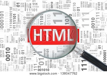 Website Development And Web Design Concept. Html Programming Lan