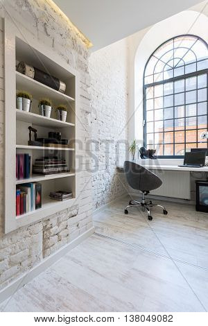 Home Office With Industrial Look Idea