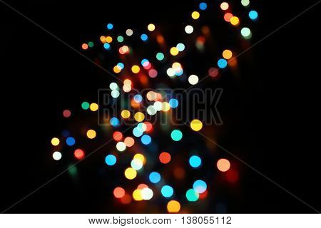 Magic background with colorful bokeh. Spring Summer Christmas New Year disco party background.