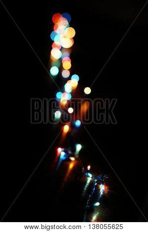 Christmas wallpaper decorations concept.holiday festival backdrop:sparkle circle lit celebrations display.