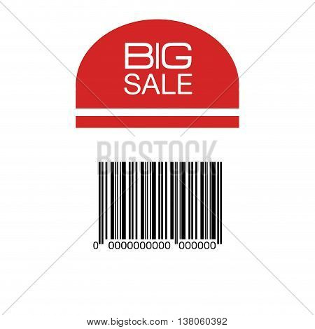 Bar code with serial number black and white icon, vector illustration graphic design.