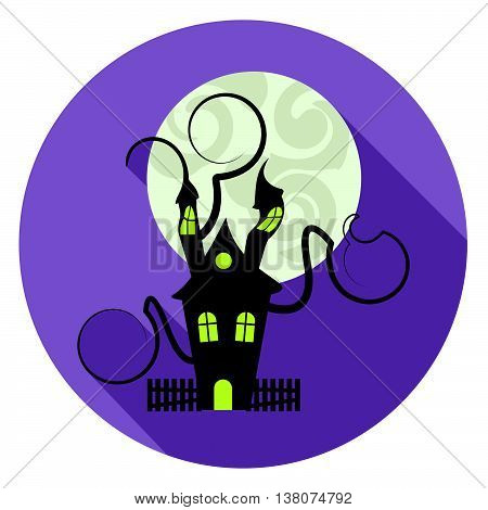 Halloween House Icon Represents Trick Or Treat And Apartment