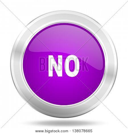 no round glossy pink silver metallic icon, modern design web element