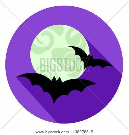 Halloween Bats Icon Indicates Sign Scary And Horror