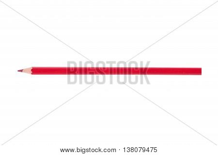 The red Color Pencil isolated over white background