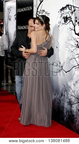 Sandra Bullock and Mennan Yapo at the Los Angeles premiere of 'Premonition' held at the Cinerama Dome in Hollywood, USA on March 12, 2007.